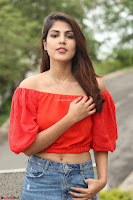 Rhea Chakraborty in Red Crop Top and Denim Shorts Spicy Pics ~  Exclusive 309.JPG