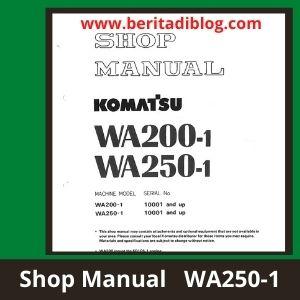 WA250-1 shop manual wheel loader komatsu