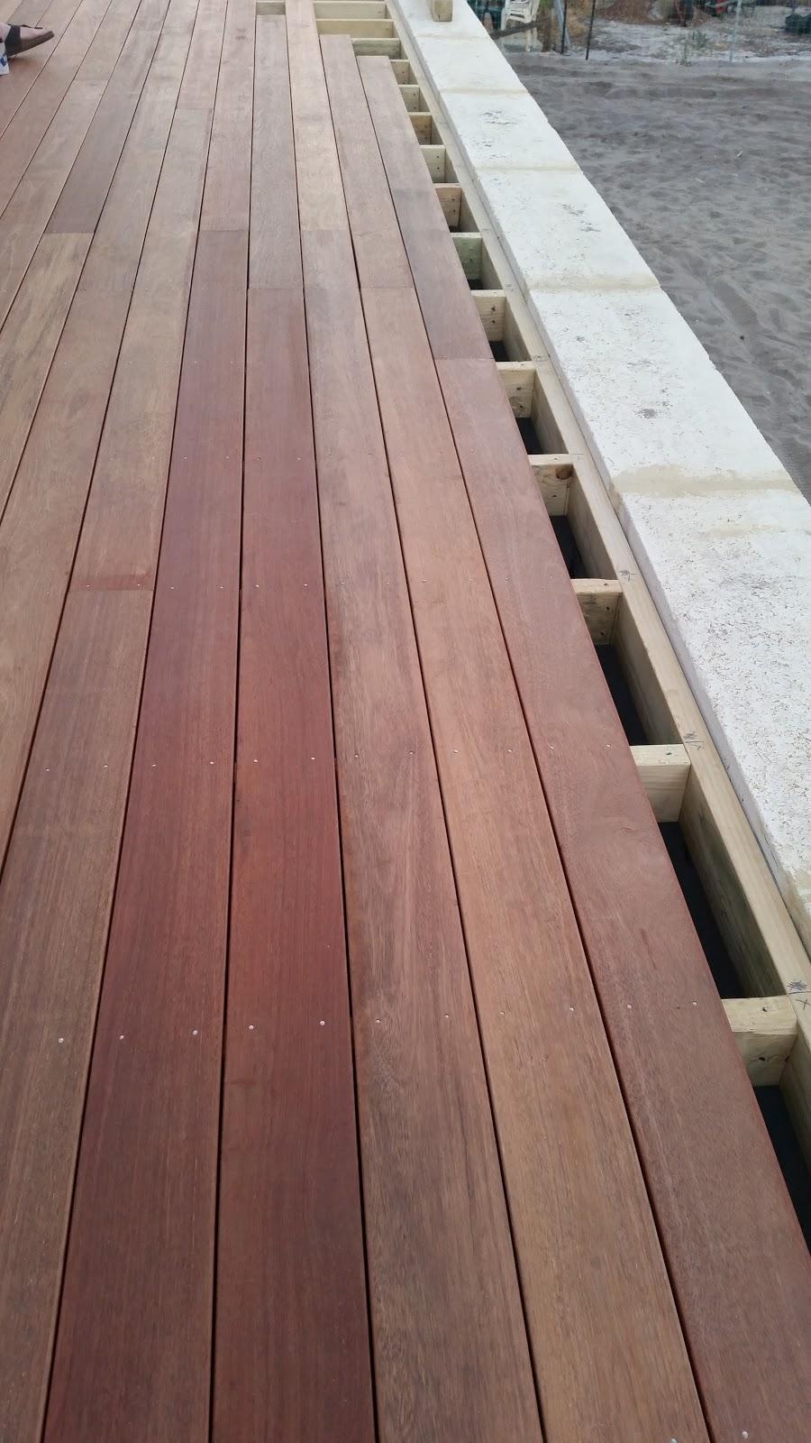 Jarrah jungle backyard progress our new timber deck for Timber decking seconds