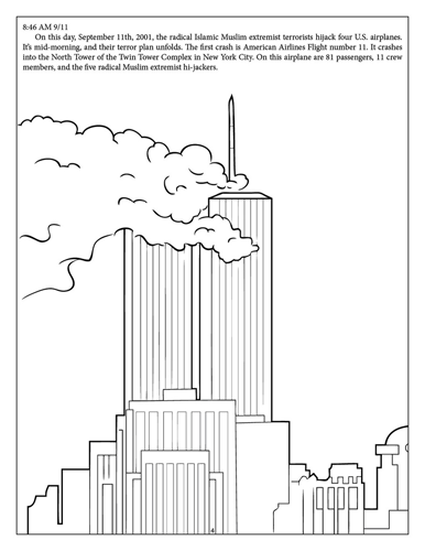 Free 9 11 coloring pages ~ Memories of September 11th coloring - 9/11 coloring ...