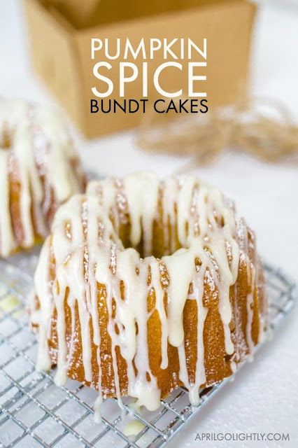Mini Pumpkin Spice Bundt Cake Recipe