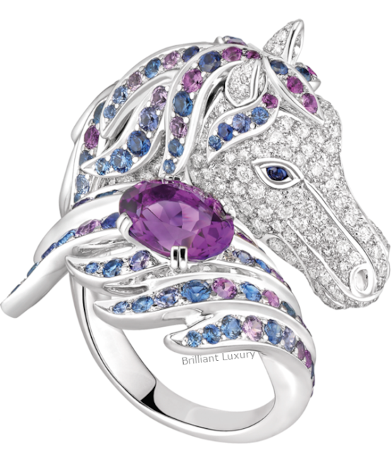 Brilliant Luxury♦Boucheron Paris Nuri Cockatoo ring