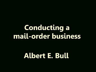 Conducting a mail-order business