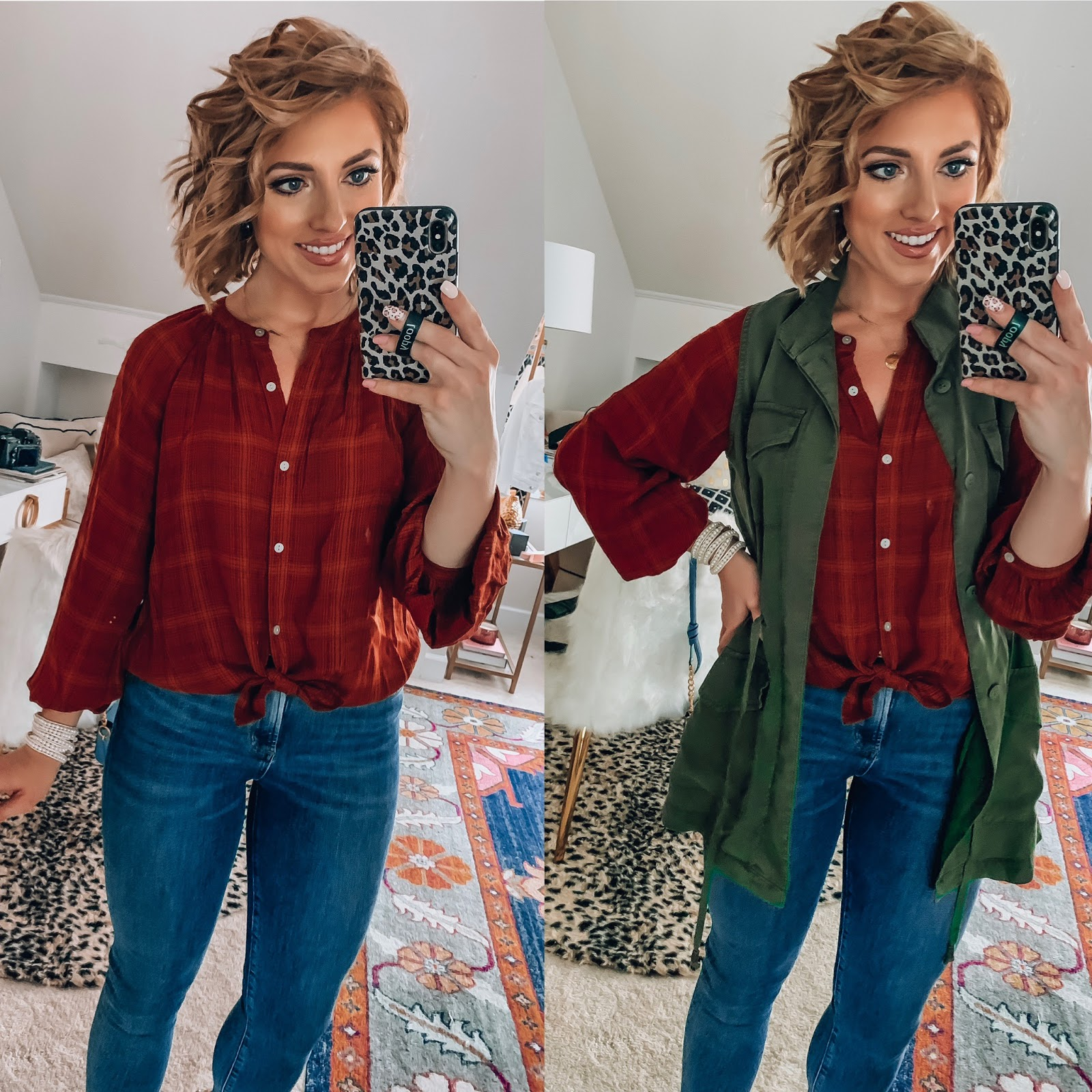Target Fall Finds: Part One - Plaid Top + Utility Vest - Something Delightful Blog