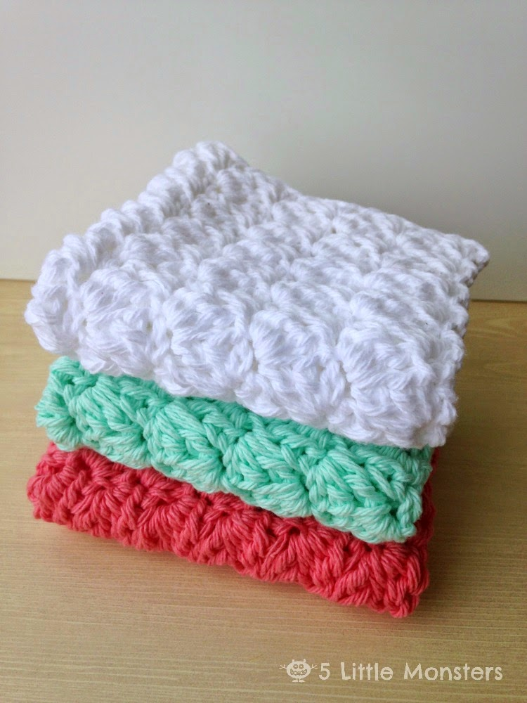 5 Little Monsters My Favorite Dishcloths Sedge Stitch Dishcloth