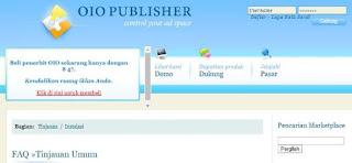 situs penyedia iklan selain adsense adalah oio publisher