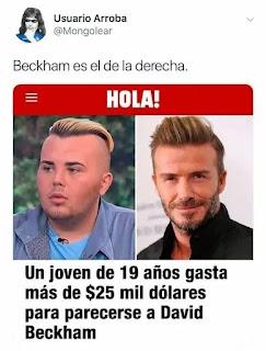Noticia chico de opera para parecerse a Beckham