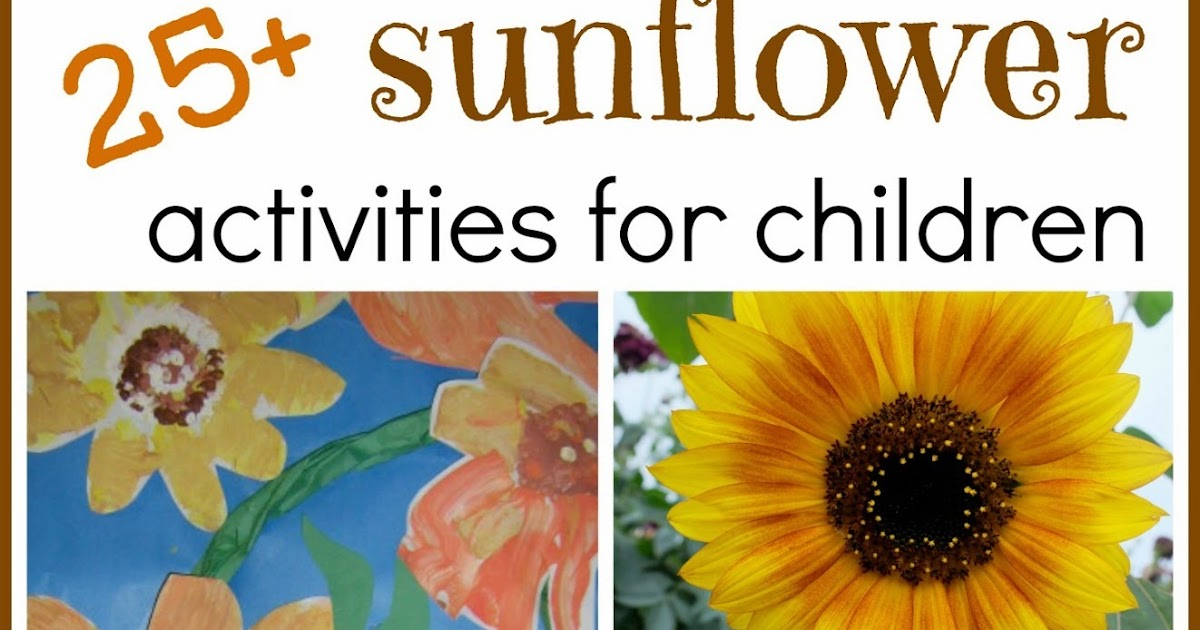 25 Sunflower Activities For Children Rubber Boots And