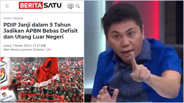 PDIP Pernah Berjanji dalam 5 Tahun APBN Bebas Utang, Jansen: Hasilnya Utang Menumpuk Parah!