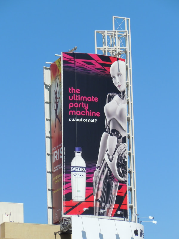 Svedka Vodka sexy robot billboard