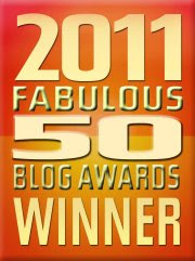 Winner - 2011 Fabulous 50 Blog Awards