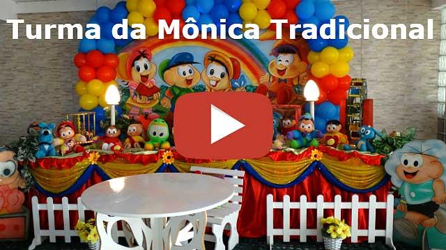 Decoração de aniversário Turma da Mônica tradicional luxo