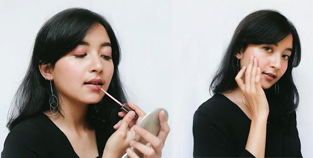 Holy Lip Creme bisa digunakan sebagai lipstick ataupun pengganti blush on