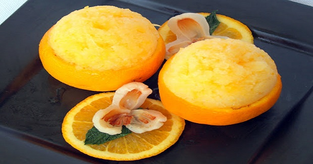 Orange Lychee Sorbet Recipe