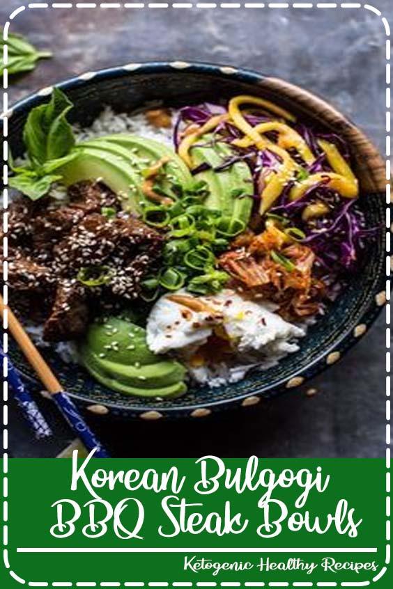 Korean Bulgogi BBQ Steak Bowls