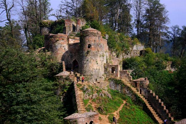 Rudkhan Castle located in the forests.