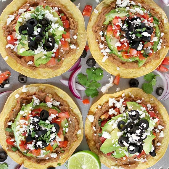 Easy Vegetarian Tostadas #CleanEating #Tacos
