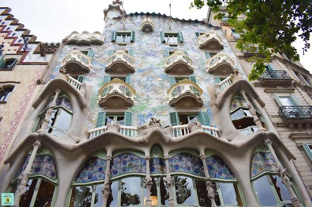 Casa Batlló en el centro de Barcelona