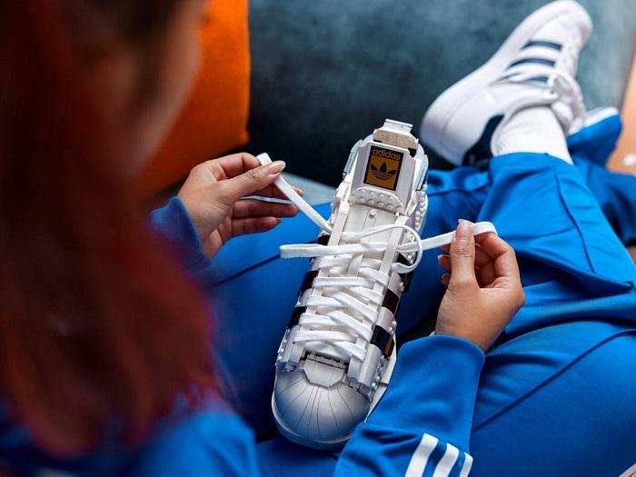 The LEGO Adidas Originals Superstar Sneaker shoelace