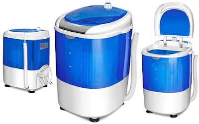 Costway Laundry Washer - Single Tub Washing Machine with Spin Dryer - Small Load Compact Energy-Saver Appliances