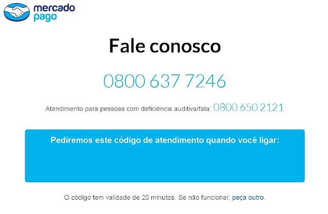 Mercado Pago - Telefone