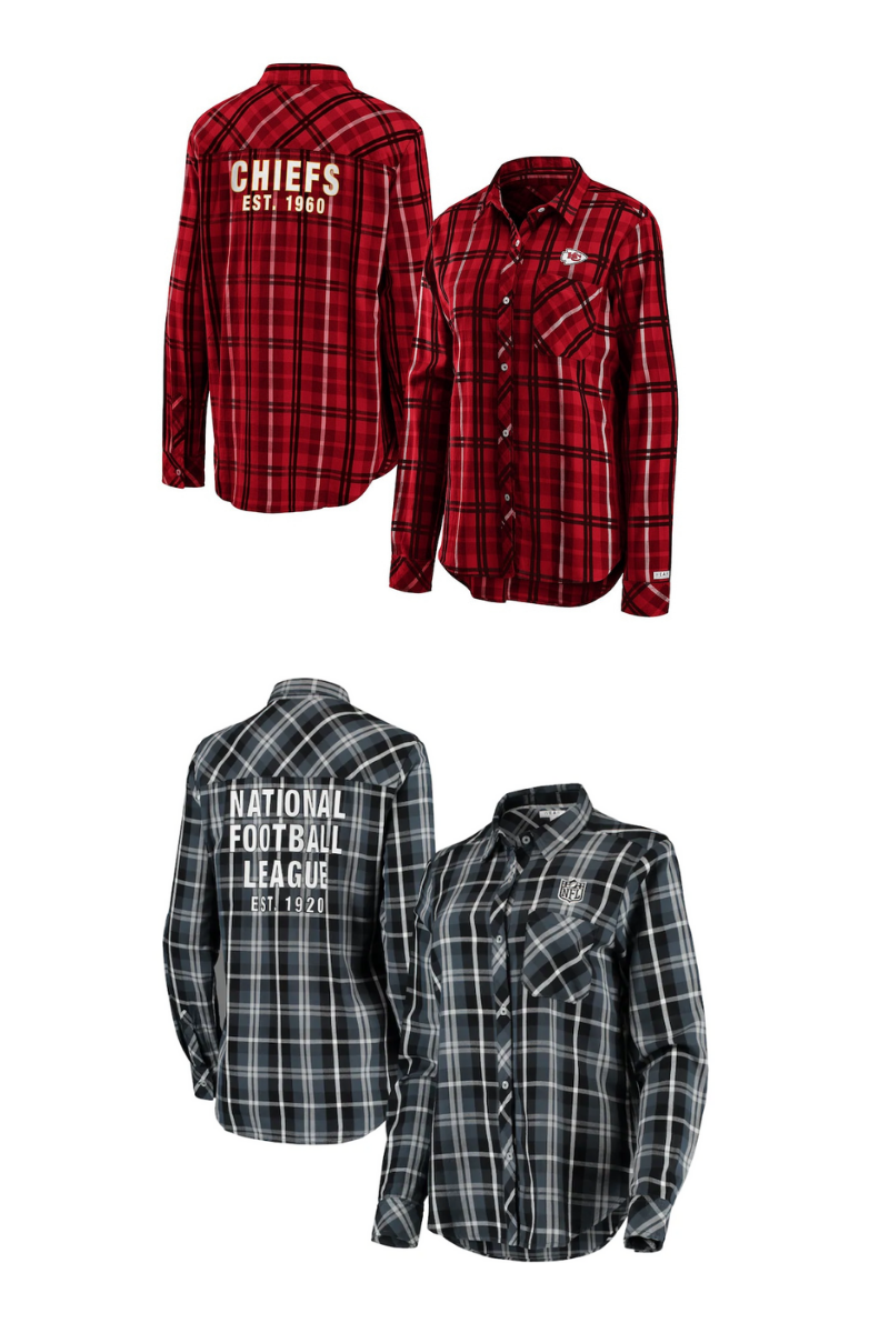 NFL team plaid shirt