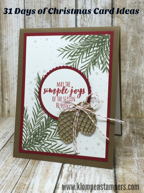 31 Days Of Christmas Cards - Day #1 | Klompen Stampers