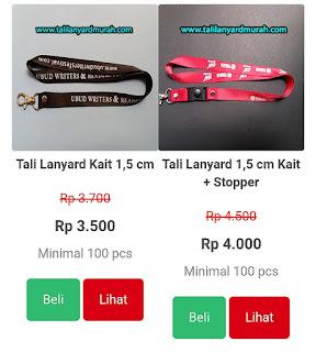 Pusat tali lanyard termurah dan tali ID card Jakarta