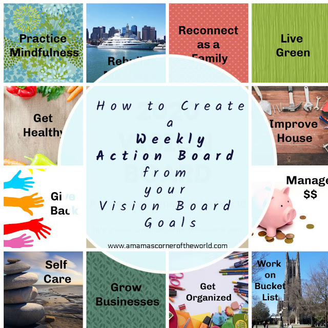 Pin this Post to Help Create an Action Board from your Vision Board