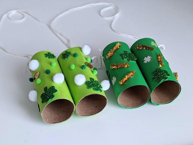 DIY leprechaun binoculars for kids