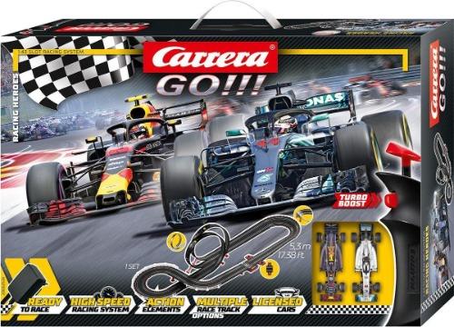 Carrera Go racebaan Max Verstappen en Lewis Hamilton