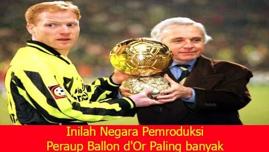 Inilah Negara Pemroduksi Peraup Ballon d'Or Paling banyak