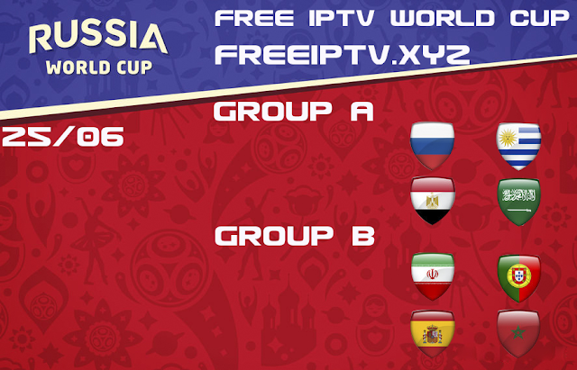 World Cup 2018 iptv streaming free 25/06/2018