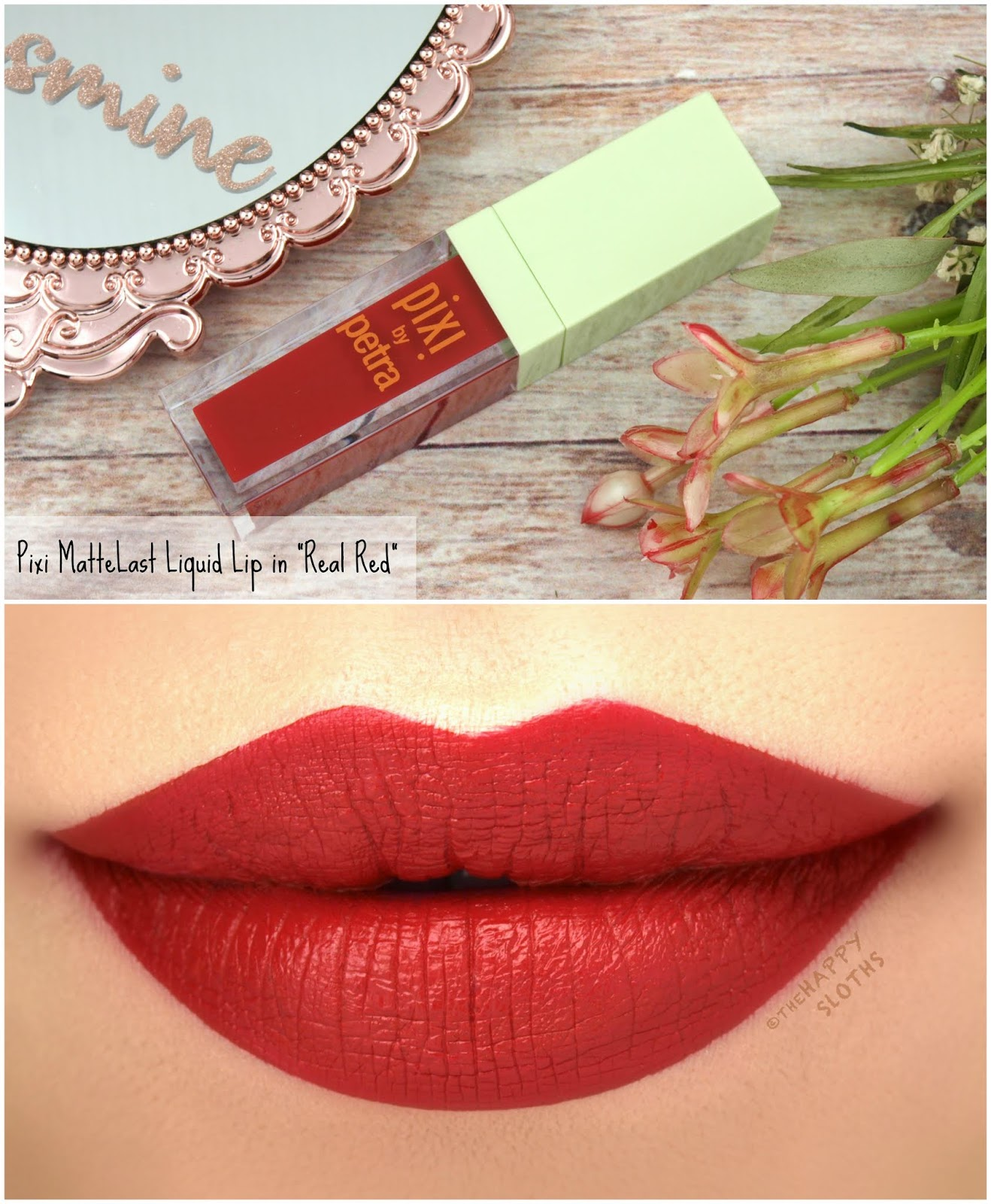 "Pixi | MatteLast Liquid Lip in ""Real Red"": Review and Swatches"