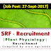 SRF Recruitment-Plant Physiology