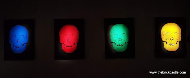 The Art Of THe Brick LEGO Exhibit primary colour skulls