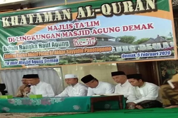 Puncak Haul Kanjeng Sultan Fatah ke 517, Akan Dihadiri Habib Luthfi dan Gus Wafiq