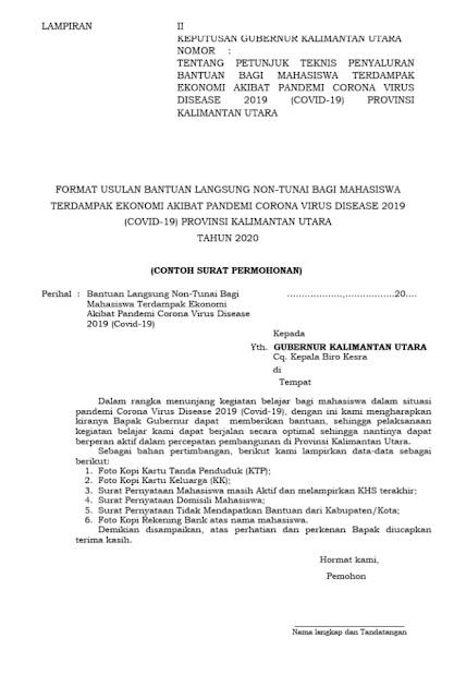 Contoh Surat Permohonan (via: kumparan.com)