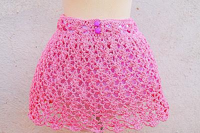2 - Crochet Falda de flores a crochet y ganchillo muy fácil y rápida por MAJOVEL CROCHET