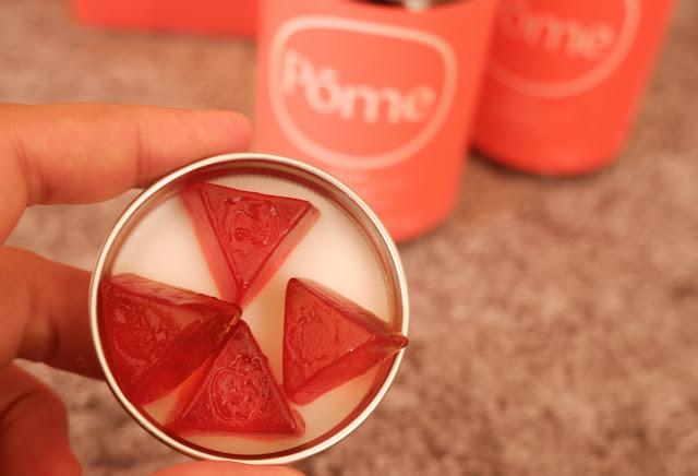 gummy pome berbentuk segitiga rasa asam segar