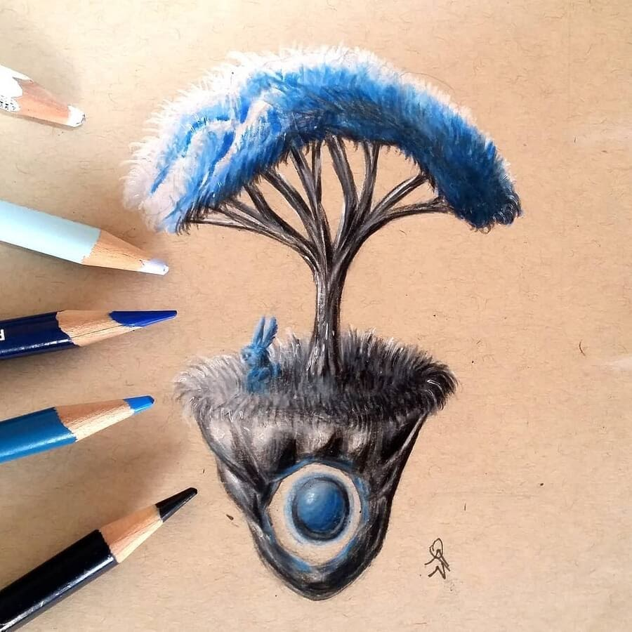 08-The-blue-bunny-and-its-tree-MonstersofNowhere-www-designstack-co