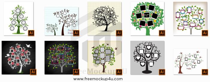 10 Memories Tree With Photo Frames Bundle Pack