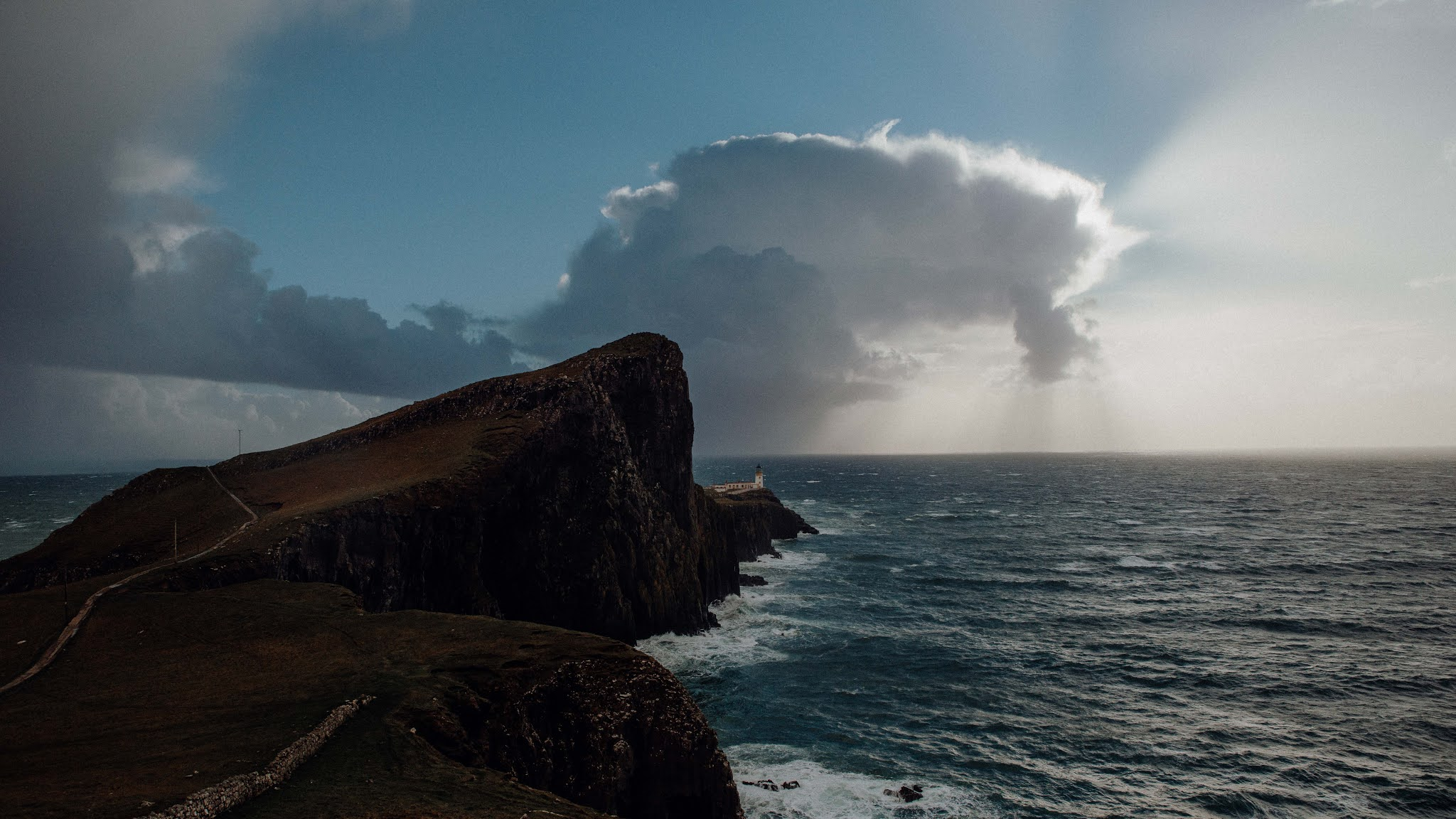 Neist Point Lighthouse, Skye scotland cliff