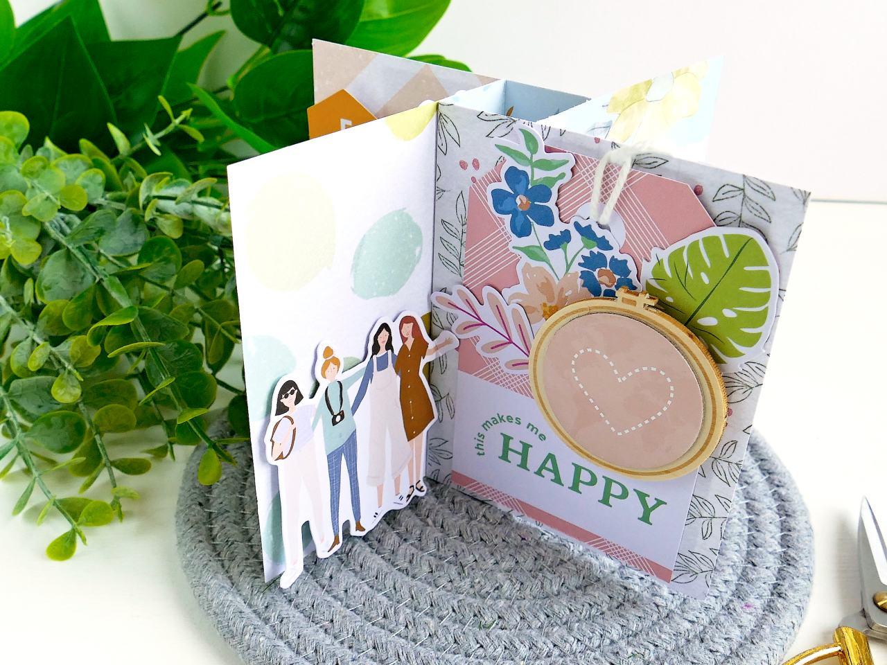 Pinwheel Tower Card - Mini album