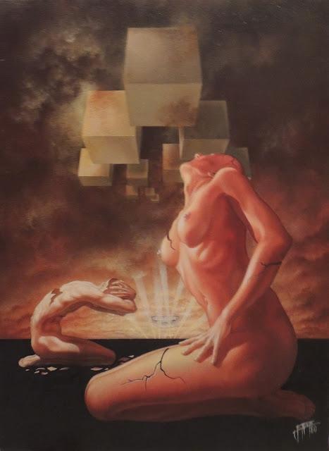 Enrique Nieto arte surrealista hombre mujer desnudos