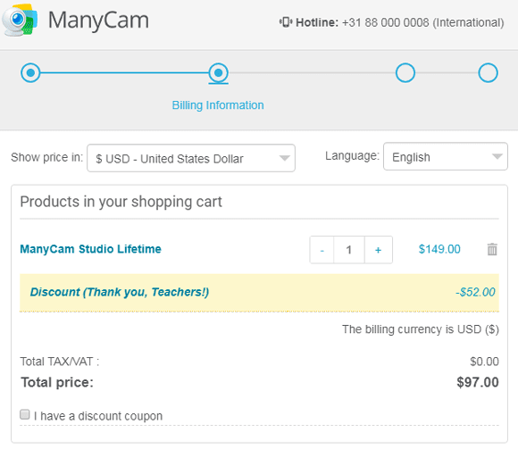 ManyCam Coupon Discount Code