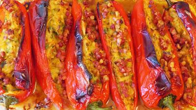 Pečene punjene rog paprike / Stuffed Roasted Italian Peppers