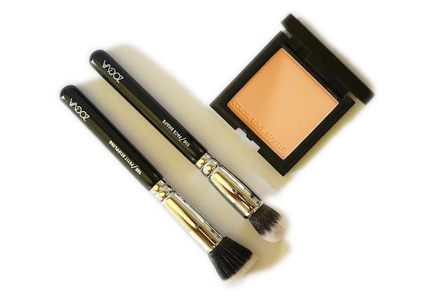 ZOEVA Luxe Color Blush, 122 Petit Stippling Brush, 110 Face Shape Brush