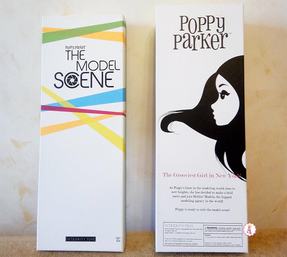 Коробка от куклы Poppy Parker The Model Scene