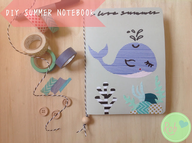 Summer notebook con Washi tape